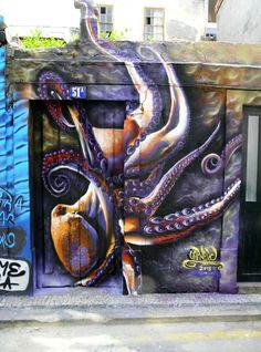 Street art by Carniero in Aveiro, Portugal