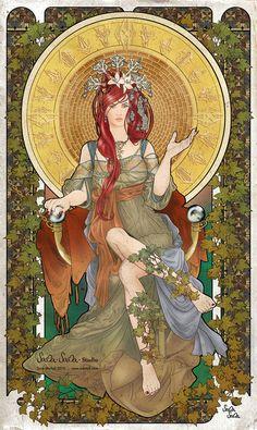 The High Priestess (tarot image) by ~sama-sama-studio (love!)