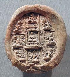 Plaque with a Mandala of the Eight Bodhisattvas, Gupta period, 6th century  India, Terracotta
