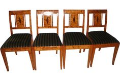 furniture beidermiter   Biedermeier Dining Chairs, Set of 4