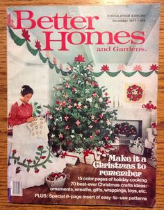 vintage 1977 better homes and gardens magazine december issue. beautiful ideas. Home Design Ideas