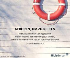 Jesus wurde geboren, um zu retten | Lies den Bibelvers in der Bibel auf #BibleServer nach | Matthäus 1,21