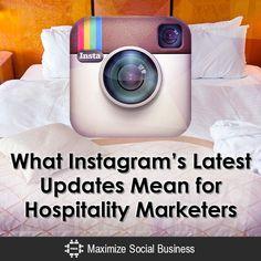 What Instagram's Updates Mean for Hospitality Marketing Social Media Trends, Social Media Quotes, Facebook Marketing, Social Media Marketing, Restaurant Marketing, Twitter Tips, Social Business, Influencer Marketing, Instagram Tips