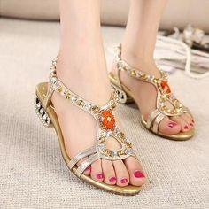 Rhinestones Sweet Sandals
