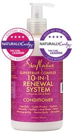 2015 NC Editor's Choice Award Type 3C Hair--Daily Conditioner---SheaMoisture SuperFruit Complex 10-In-1 Renewal System Conditioner - NaturallyCurly