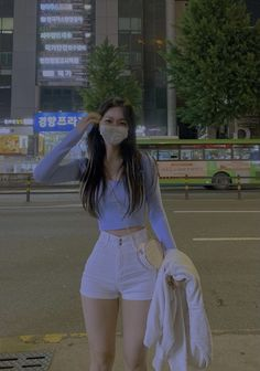 Korean Girl Fashion, Ulzzang Fashion, Kpop Fashion Outfits, Edgy Outfits, Cute Casual Outfits, Pretty Outfits, Girl Outfits, Skinny Girl Body, Skinny Girls