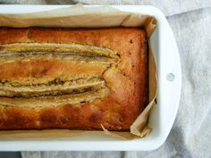 Finally a banana bread recipe that isn't full of refined sugar! This recipe is sweetened using browned bananas, maple syrup and vanilla. Its also great the next day as the sugars in the banan…