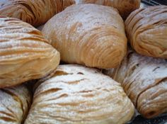 Sfogliatelle Ricce~The history is that the pastry was born in Naples, Italy centuries ago and was usually made by nuns in convents, this pastry was made accidently by a nun using leftover ingredients as it was a sin to waste food Italian Pastries, Italian Desserts, Italian Recipes, Italian Bakery, French Pastries, Italian Foods, Gourmet Desserts, Plated Desserts, Dessert Recipes