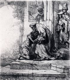 Return of the Prodigal Son by Rembrandt Harmenszoon van Rijn, European Art available at J-Art Gallery. Rembrandt Etchings, Rembrandt Drawings, Rembrandt Art, Harvard Art Museum, Francisco Goya, Prodigal Son, Dutch Golden Age, Biblical Art, Dutch Painters