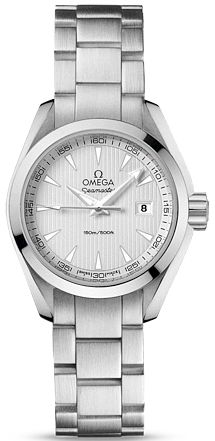 231.10.30.60.02.001 NEW OMEGA AQUA TERRA QUARTZ LADIES WATCH IN STOCK   - FREE Overnight Shipping | Lowest Price Guaranteed    - NO SALES TAX (Outside California)- WITH MANUFACTURER SERIAL NUMBERS- Silver Dial - Battery Operated Quartz Movement- 3 Year Warranty  - Guaranteed Authentic - Certificate of Authenticity- Scratch Resistant Sapphire Crystal - Brushed with Polished Steel Case
