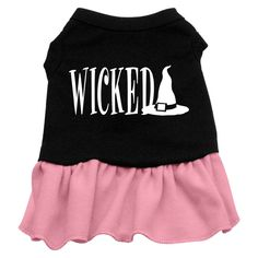 Wicked Screen Print Dress Black with Pink Lg (14)