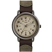 Timex Watch, Men's Premium Originals Classic Brown Leather Strap 42mm T2P013AB