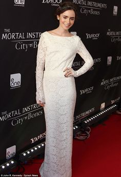 Not so angelic.. The dress appeared demure from the front but was revealing from behind. Lace I love lace dresses
