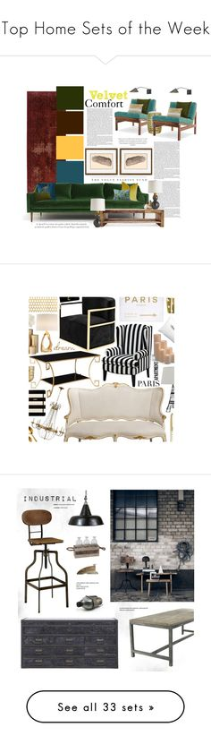 """Top Home Sets of the Week"" by polyvore ❤ liked on Polyvore featuring interior, interiors, interior design, home, home decor, interior decorating, Oriental Weavers, Pier 1 Imports, Verge and Safavieh"