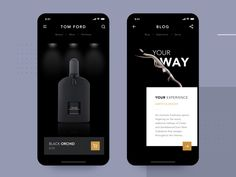 Luxury Perfume App designed by Aurélien Salomon ➔ for Orizon. Connect with them on Dribbble; the global community for designers and creative professionals. App Ui Design, Mobile App Design, Design Web, Interface Design, Black App, Ecommerce App, Black Perfume, Ui Design Inspiration, Sketch Inspiration