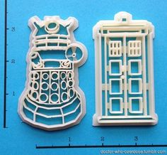 3D printed cookie cuttersClick for the best DoctorWho tumblr ever.