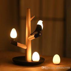 2017 Novelty Night Light Cute Bird Tree Led Night Light Table Lamps Wall Light Intelligent Light Motion Sensor Night Lights Usb Rechargeable Lamp From Alibaba1688, $25.89   Dhgate.Com