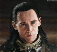 The Trial of Loki (colour pencils) by Quelchii - Color pencil drawing | First pinned to Celebrity Art board here... http://www.pinterest.com/fairbanksgrafix/celebrity-art/ #Drawing #Art #CelebrityArt
