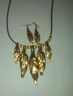 Studio barse brass necklace and matching earrings beautiful - http://designerjewelrygalleria.com/barse/studio-barse-brass-necklace-and-matching-earrings-beautiful/