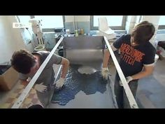 Great video of Paulsberg's concrete and carbon fibers forming process for their coffee table.