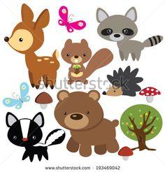 Forest animal  vector illustration - stock vector