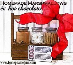 Homemade Hot Chocolate & Marshmallows {Easy & Inexpensive Gift Idea}