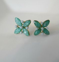 Tickle Me Turquoise studs I found this on www.rmcjewelry.com