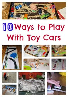 10 Ways To Play With Toy Cars--we've done most of these, but I need to try the garage and the canvas drop cloth DIY mat...
