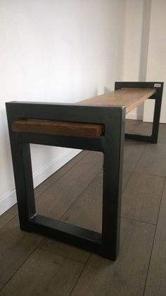 -Banc Industriel Design / Wood & Metal Industrial Bench Banc Industriel Design / Wood & Metal Industrial Bench Upcycled Furniture See it Metal Projects, Welding Projects, Furniture Projects, Furniture Design, Welding Ideas, Diy Projects, Furniture Makeover, Furniture Removal, Furniture Layout