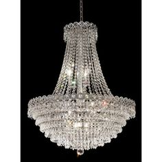 "Elegant Lighting Century 12 Light Chandelier - $1150  Fixture: 30"" H x 24"" W"