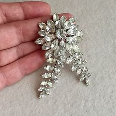Items for sale by vintage-mole Mole, Clear Crystal, Crystal Rhinestone, Designer, Layers, Brooch, Jewellery, Vintage, Crystals