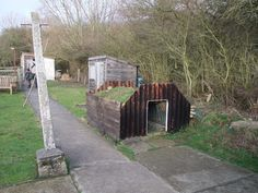 Anderson shelter. These are the shelters that all of us had in our gardens as protection from the bombs in World War Two.