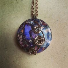 Purple Sea Sediment Jasper Wire Wrapped Spiral Circle Pendant Available from Beau Janglies on Etsy Antique Copper, Copper Wire, Irish Jewelry, Jasper Stone, In Ancient Times, Wire Wrapped Jewelry, Wire Wrapping, Arts And Crafts, Jewelry Making