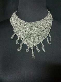#collar  #alambre #color  #plata #tejido #crochet