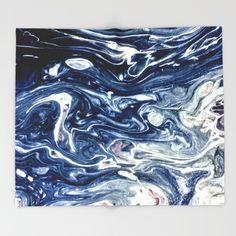 Wild Blueberry Swirl Throw Blanket by StoneDreams53 | Society6