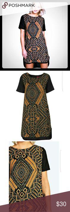 Tribal print dress High-low tribal print dress. Size 10 fits more like 12 Boohoo Plus Dresses High Low