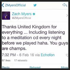 Via Zach: #CarnivalofmadnessUK #ZachMyers #Shinedown   Barry Kerch Brent Smith Eric Bass Shinedown Shinedown Nation Shinedowns Nation Zach Myers