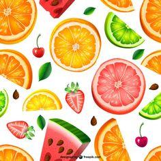 Teste padrão da fruta perfeita Vetor grátis