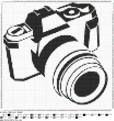 maquina fotografica em ponto cruz - Pesquisa do Google