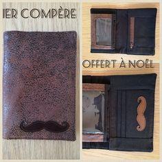 """Portefeuille Compère """"moustache"""" cousu par Bertrand - Patron de portefeuille Sacôtin"""