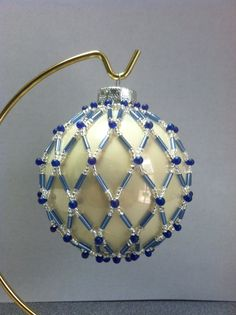 Beaded Ornament Cover- Netted made 2013