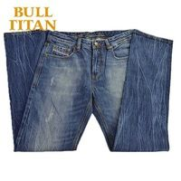famous brand jeans for men new 2015 summer style breathable washed ripped dark blue straight pocket jeans BULL TITAN