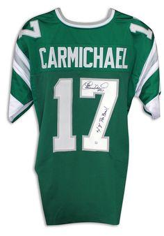 "Harold Carmichael Philadelphia Eagles Autographed Green Jersey Inscribed ""4X Pro Bowl"" with COA"
