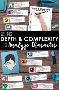 Depth and Complexity Character Analysis 4th Grade Reading, Guided Reading, Teaching Reading, Close Reading, Learning, Comprehension Activities, Reading Strategies, Reading Comprehension, Reading Centers