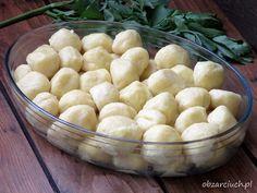 Ruskie kluski - Obżarciuch Appetizer Recipes, Dinner Recipes, Dessert Recipes, Good Food, Yummy Food, Polish Recipes, Polish Food, Appetisers, Dumplings