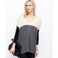sweatshirt tunic color block grey dark - Szukaj w Google