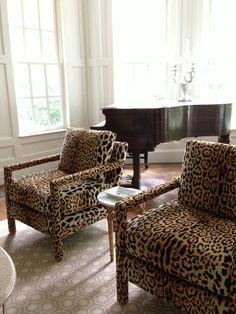 Braemore Jamil Natural leopard fabric