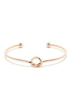 Let's Tie the Knot Rose Gold Bracelet at Lulus.com!