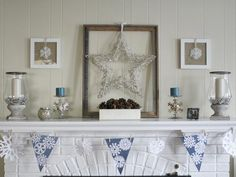 Mantel  Decorations : IDEAS & INSPIRATIONS : Decorate Your Mantel for Winter    NICE IDEA FOR THE KIDS TABLE/CANDY TABLE