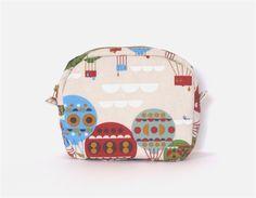 Hot Air Balloon Makeup Zipper Pouch // Toiletry Bag
